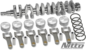 NITTO RB26 to 2.7L Stroker Kit (I-Beam Connecting Rods, Choose Bore)